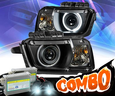 HID Xenon + KS® CCFL Halo Projector Headlights (Black) - 10-13 Chevy Camaro