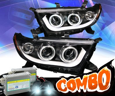 HID Xenon + KS® CCFL Halo Projector Headlights (Black) - 11-13 Toyota Highlander
