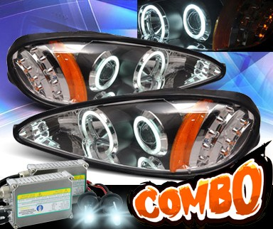 HID Xenon + KS® CCFL Halo Projector Headlights (Black) - 99-05 Pontiac Grand Am