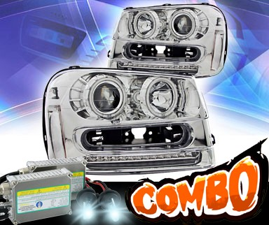 HID Xenon + KS® CCFL Halo Projector Headlights (Chrome) - 02-05 Chevy TrailBlzaer