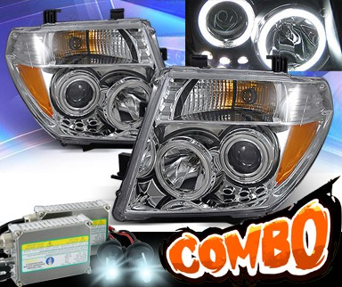 HID Xenon + KS® CCFL Halo Projector Headlights (Chrome) - 05-08 Nissan Frontier