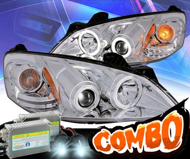 HID Xenon + KS® CCFL Halo Projector Headlights (Chrome) - 05-10 Pontiac G6