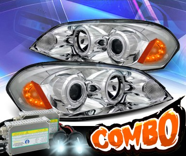 HID Xenon + KS® CCFL Halo Projector Headlights (Chrome) - 06-07 Chevy Monte Carlo