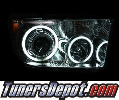 HID Xenon + KS® CCFL Halo Projector Headlights (Chrome) - 07-13 Toyota Tundra