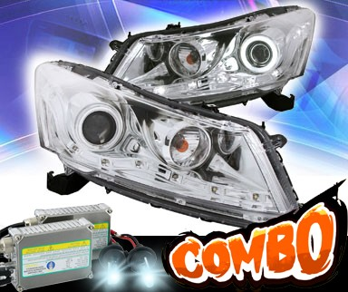 HID Xenon + KS® CCFL Halo Projector Headlights (Chrome) - 08-12 Honda Accord 4dr