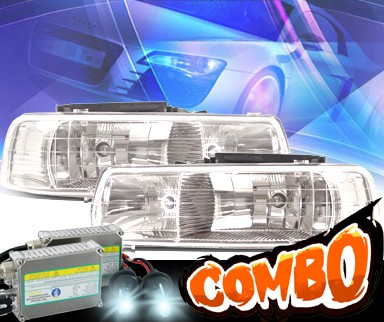 HID Xenon + KS® Crystal Halo Headlights  - 99-02 Chevy Silverado