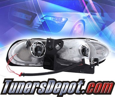 HID Xenon + KS® Crystal Halo Headlights (Black) - 98-02 Chevy Camaro