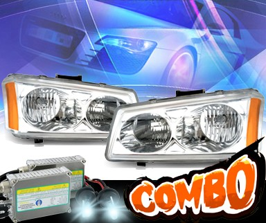 HID Xenon + KS® Crystal Headlights - 03-06 Chevy Avalance (w/o body cladding only)