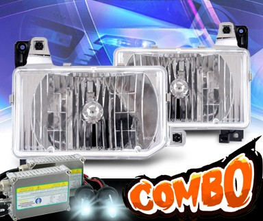 HID Xenon + KS® Crystal Headlights - 87-95 Nissan Pathfinder
