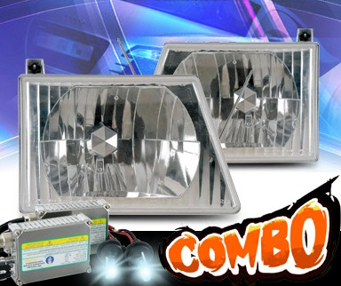 HID Xenon + KS® Crystal Headlights - 92-03 Ford Econoline Van