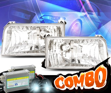 HID Xenon + KS® Crystal Headlights - 92-96 Ford F-350 F350