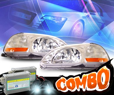 HID Xenon + KS® Crystal Headlights  - 96-98 Honda Civic 2/3/4dr.