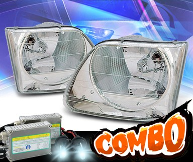 HID Xenon + KS® Crystal Headlights - 97-03 Ford F-150 F150