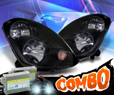 HID Xenon + KS® Crystal Headlights (Black) - 03-04 Infiniti G35 4dr Sedan