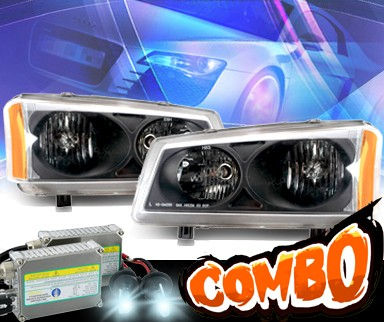 HID Xenon + KS® Crystal Headlights (Black) - 03-06 Chevy Avalance (w/o body cladding only)