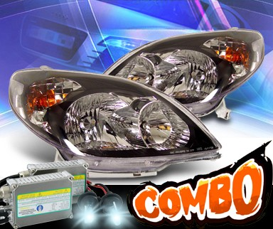 HID Xenon + KS® Crystal Headlights (Black) - 03-08 Toyota Matrix