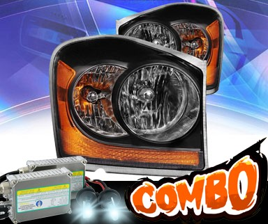 HID Xenon + KS® Crystal Headlights (Black) - 04-06 Dodge Durango