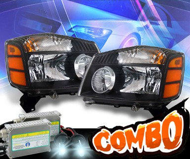 HID Xenon + KS® Crystal Headlights (Black) - 04-07 Nissan Titan