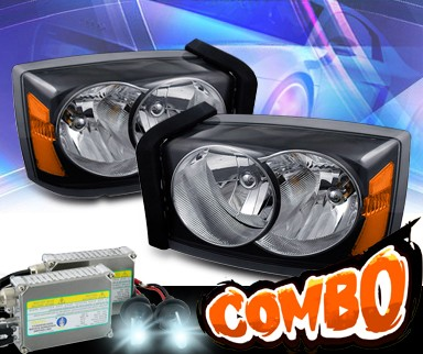 HID Xenon + KS® Crystal Headlights (Black) - 05-07 Dodge Dakota