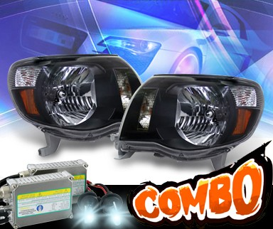 HID Xenon + KS® Crystal Headlights (Black) - 05-11 Toyota Tacoma