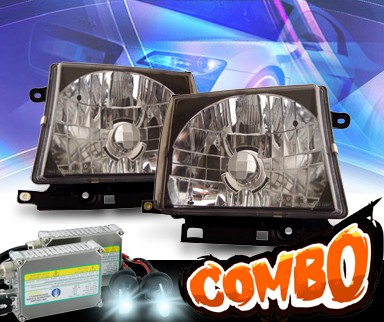 HID Xenon + KS® Crystal Headlights (Black) - 97-00 Toyota Tacoma