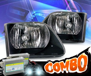HID Xenon + KS® Crystal Headlights (Black) - 97-03 Ford F-150 F150
