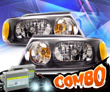 HID Xenon + KS® Crystal Headlights (Black) - 98-02 Lincoln Navigator