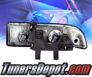 HID Xenon + KS® Crystal Headlights (Black) - 98-04 Chevy Blazer