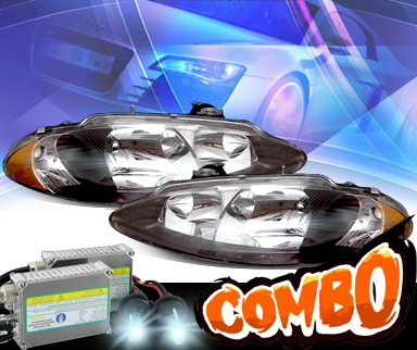 HID Xenon + KS® Crystal Headlights (Black) - 98-04 Dodge Intrepid