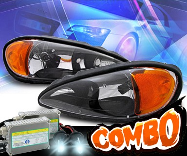 HID Xenon + KS® Crystal Headlights (Black) - 99-05 Pontiac Grand Am
