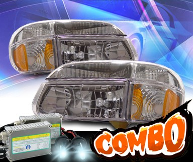 HID Xenon + KS® Crystal Headlights + Corner Set - 95-01 Ford Explorer