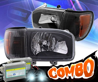 HID Xenon + KS® Crystal Headlights + Corner Set (Black) - 99-04 Nissan Pathfinder