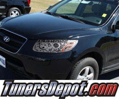 HID Xenon + KS® DRL LED Projector Headlights (Chrome) - 07-12 Hyundai Santa Fe