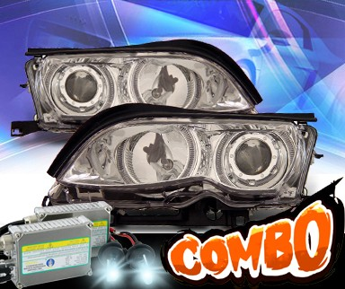 HID Xenon + KS® Halo Projector Headlights - 02-05 BMW 325i E46 4dr