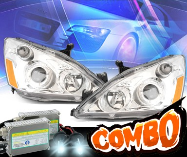 HID Xenon + KS® Halo Projector Headlights  - 03-05 Honda Accord