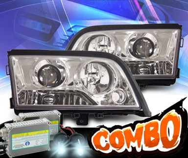 HID Xenon + KS® Halo Projector Headlights - 94-00 Mercedes-Benz C230 Sedan W202 without Stock HID