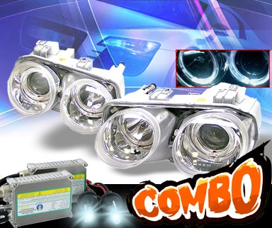 HID Xenon + KS® Halo Projector Headlights - 94-97 Acura Integra