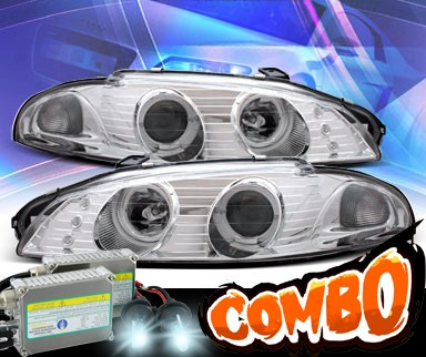 HID Xenon + KS® Halo Projector Headlights - 97-99 Mitsubishi Eclipse