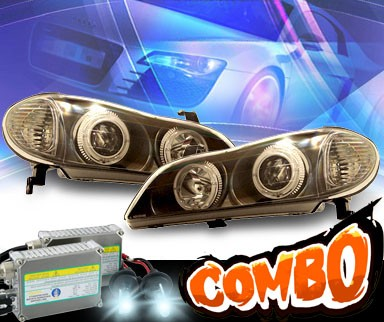 HID Xenon + KS® Halo Projector Headlights (Black) - 00-04 Infiniti I30