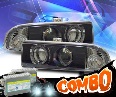 HID Xenon + KS® Halo Projector Headlights (Black) - 98-04 Chevy S-10 S10