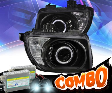 HID Xenon + KS® LED Halo Projector Headlights (Black) - 03-06 Honda Element