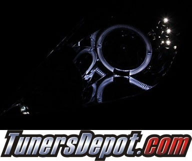HID Xenon + KS® LED Halo Projector Headlights (Chrome) - 00-05 Toyota Celica