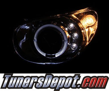 HID Xenon + KS® LED Halo Projector Headlights (Chrome) - 02-04 Subaru Impreza