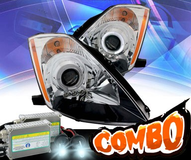 HID Xenon + KS® LED Halo Projector Headlights (Chrome) - 03-05 Nissan 350Z