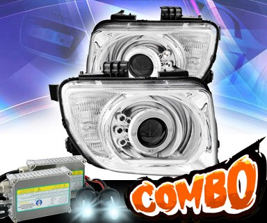 HID Xenon + KS® LED Halo Projector Headlights (Chrome) - 03-06 Honda Element