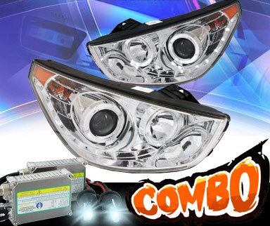 HID Xenon + KS® LED Halo Projector Headlights (Chrome) - 10-12 Hyundai Tucson