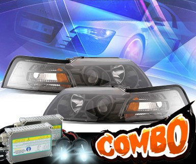 HID Xenon + KS® Projector Headlights (Black) - 99-04 Ford Mustang