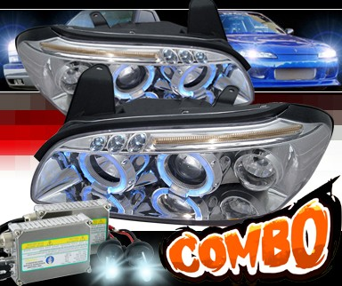 HID Xenon + SPEC-D® Halo LED Projector Headlights - 00-01 Nissan Maxima