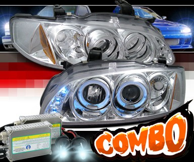 HID Xenon + SPEC-D® Halo LED Projector Headlights - 00-03 Nissan Sentra