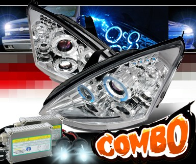 HID Xenon + SPEC-D® Halo LED Projector Headlights - 00-04 Ford Focus